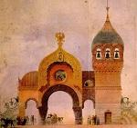 Ontwerp voor de grote poort van Kiev